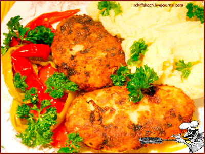 рецепт мясных котлет из свинины и говядины в